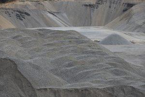 Piles of prepared aggregate